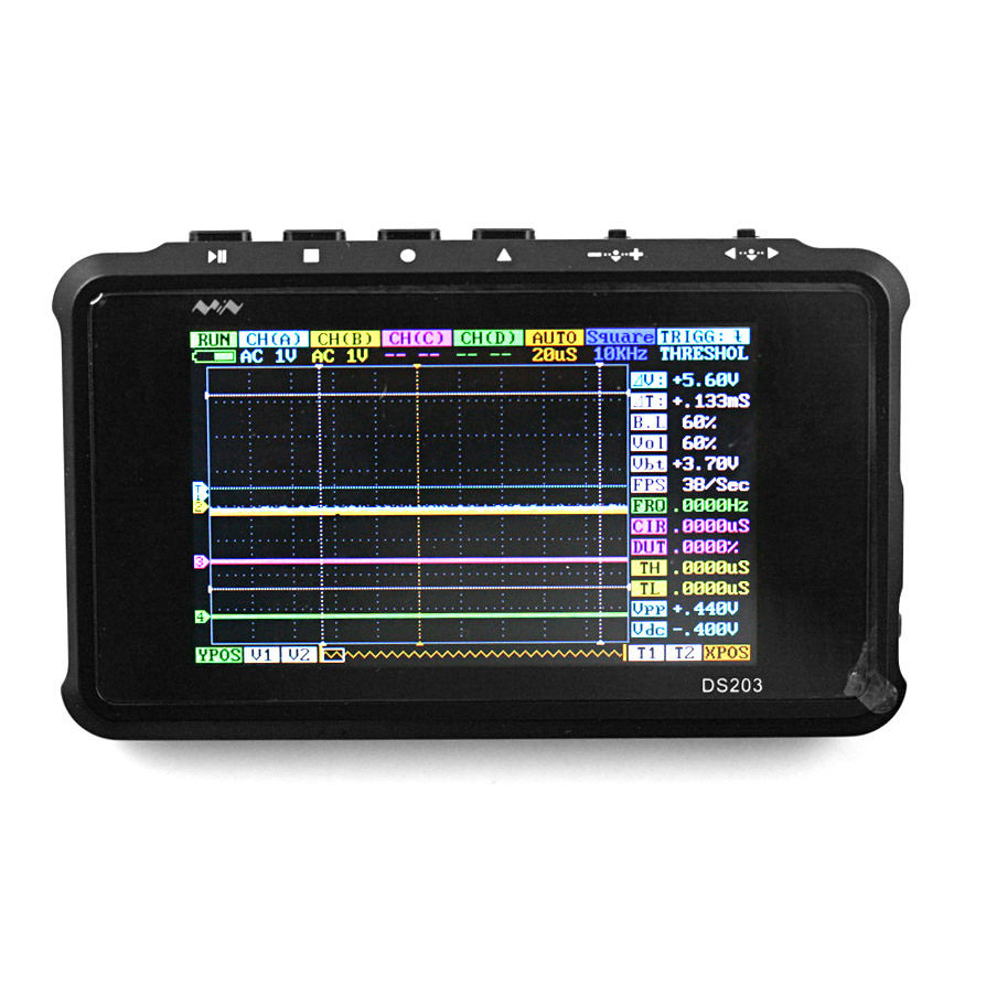 Portable Digital Oscilloscope : Mini digital oscilloscope channels dso quad