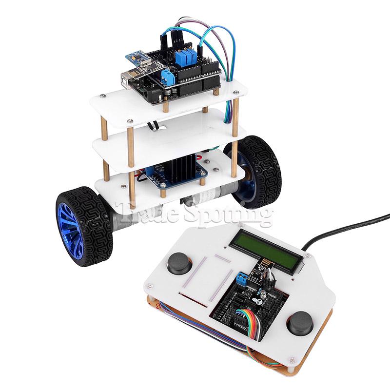 Smart motor robot car battery box chassis kit speed