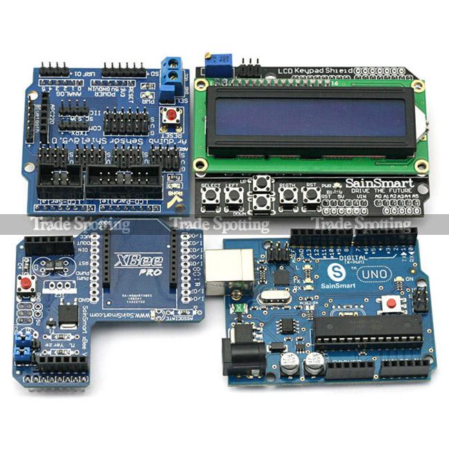 Sainsmart uno xbee lcd keypad sensor shield v