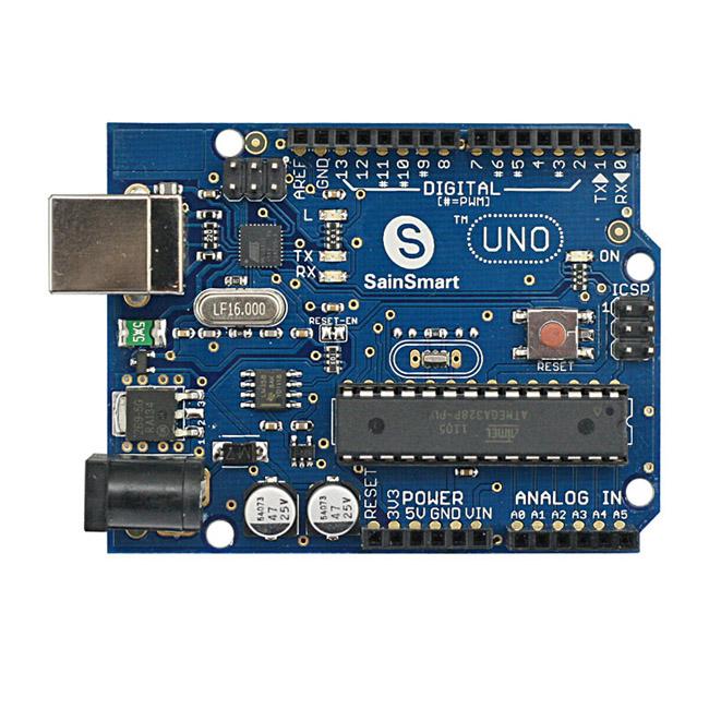 Sainsmart uno lcd keypad prototype shield hc sr distance