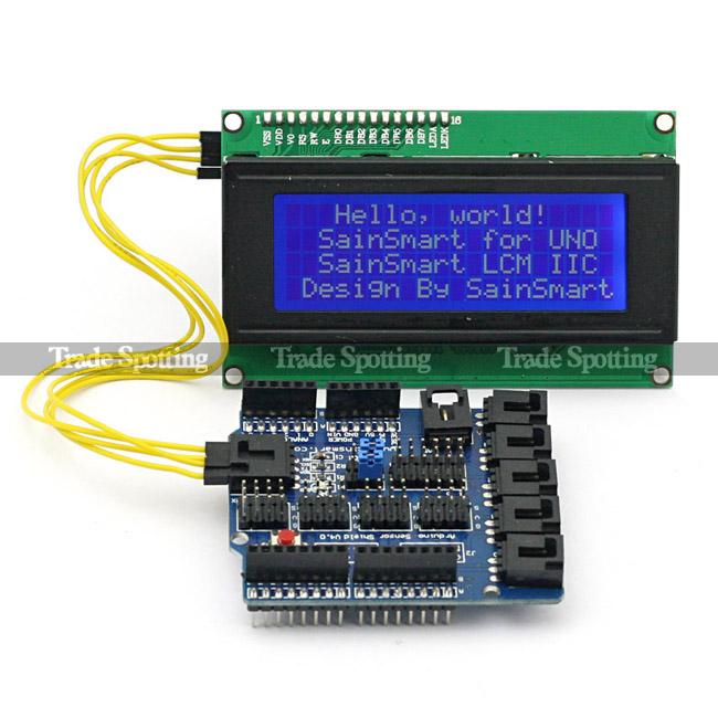 Sainsmart iic i c twi serial lcd sensor shield v for