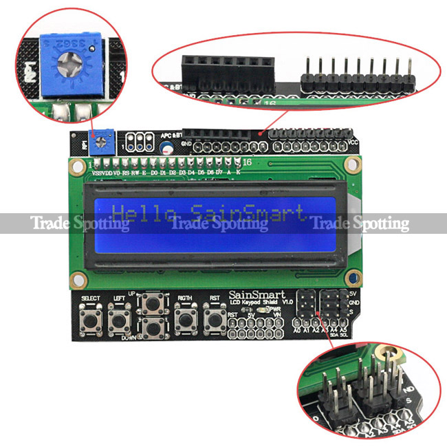 raspberry pi3 lcd keypad shield v1 0 wiringpi raspberry pi forums rh raspberrypi org I2C and LCD Internal Connections LED Not LCD I2C