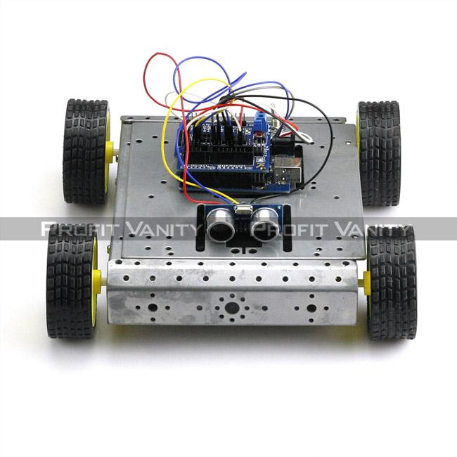 Sainsmart 4wd Arduino Robot Car Uno Hc Sr04 L298n