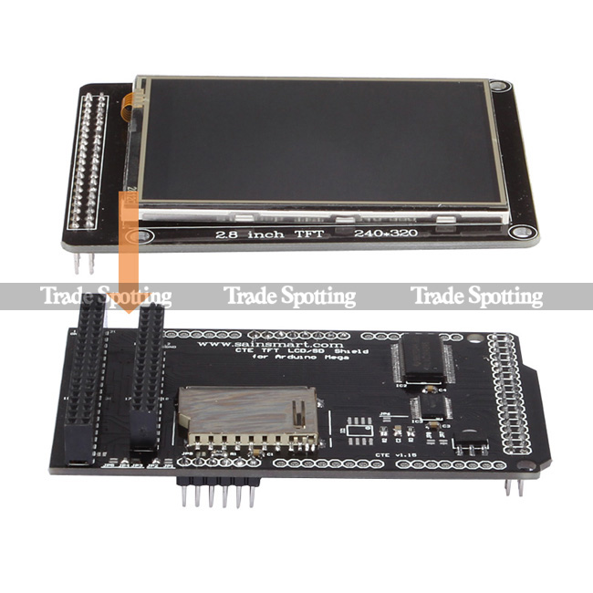 Sainsmart quot tft lcd touch panel shield kit