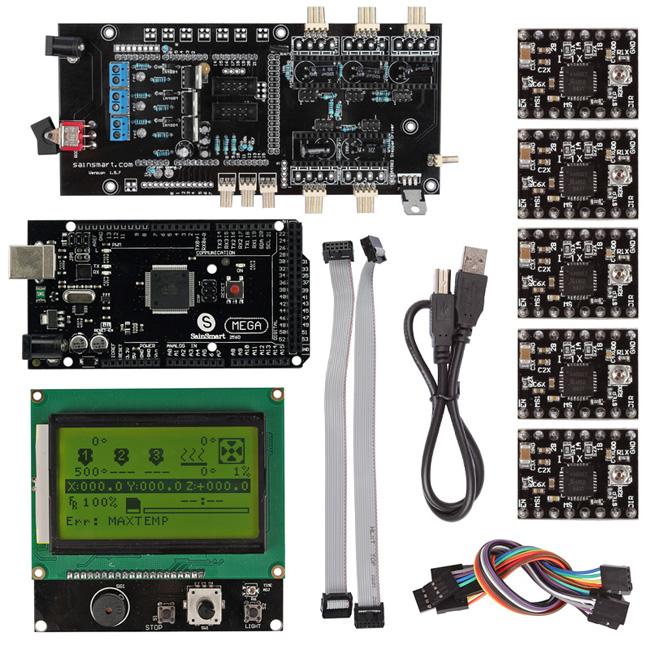 Mega2560+ Smart 12864 LED Controller A4988 + Ultimaker 1 5 7 3D