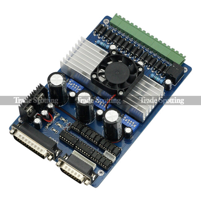 Mach3 5 Axis Cnc Breakout Interface Board For Stepper Motor Driver Cnc Mill Ebay
