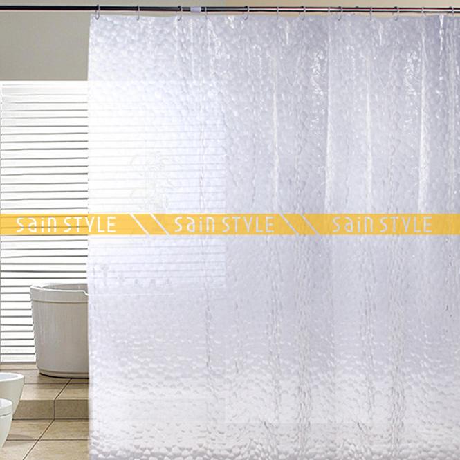 Lagute Peva Shower Curtain Liner 3d Water Cube 70 71 Inch Bathroom Waterproof Ebay