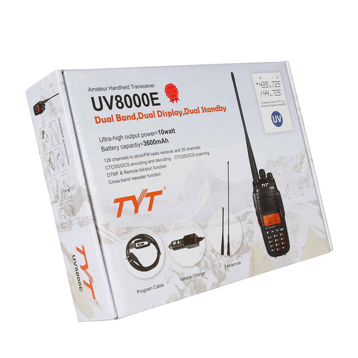 TYT UV8000E | Dual Band | 10W | 3600mAh | Cross Band Repeater | Cable
