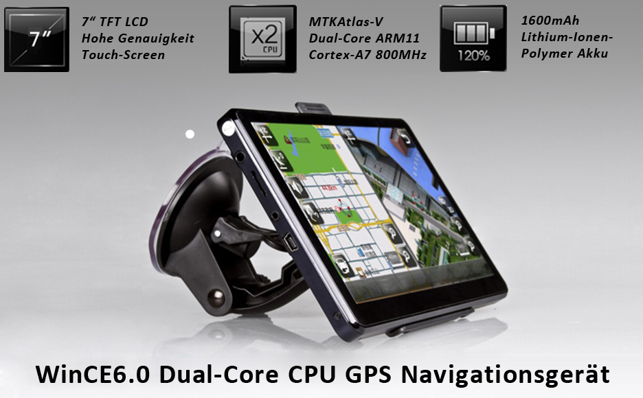 7 zoll gps navigationsger t dual core cpu bt 1 3mp r ckfahrkamera sunshade ebay. Black Bedroom Furniture Sets. Home Design Ideas