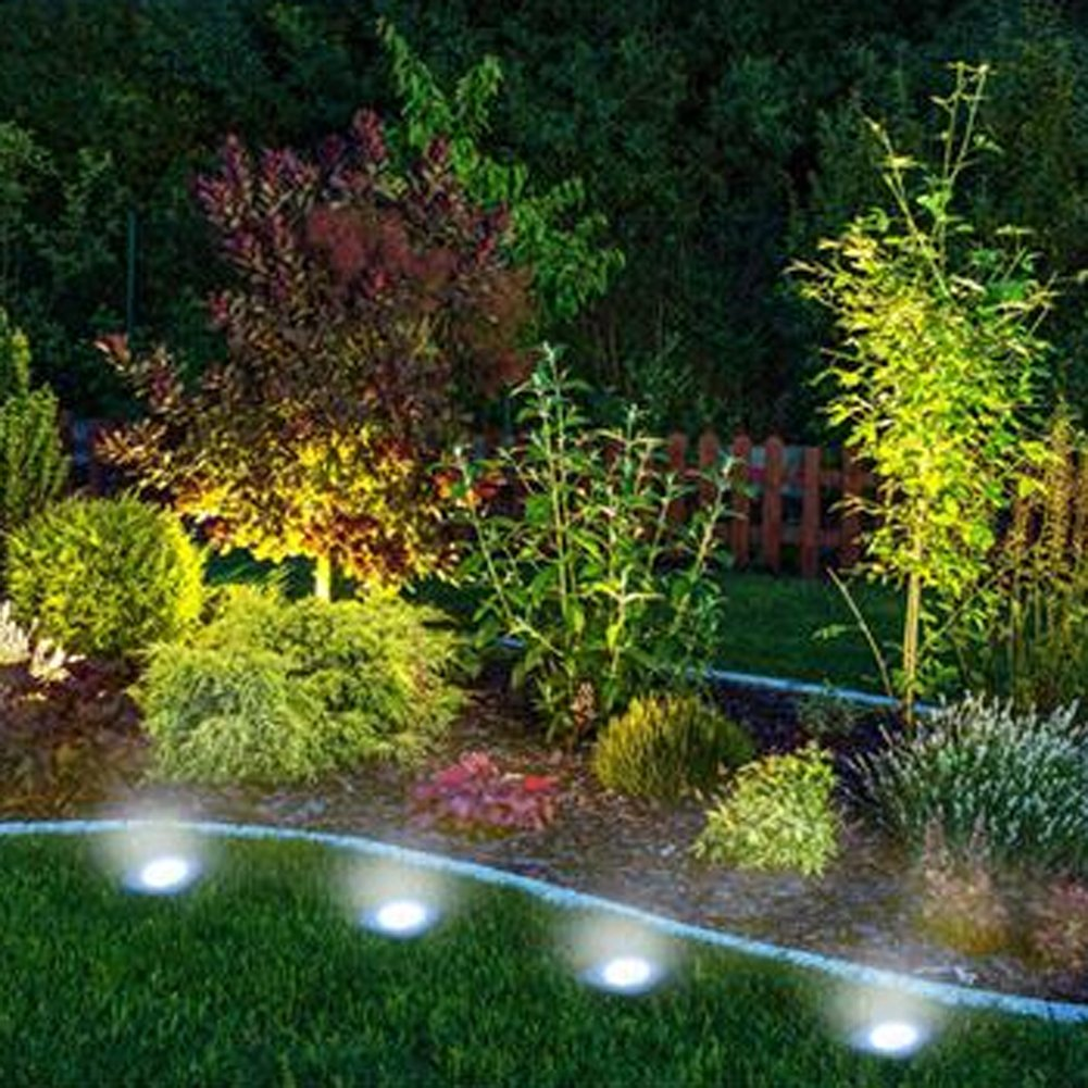 solar power 3 led buried light lamp outdoor path way garden under