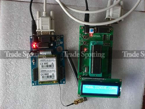 Gsm siemens tc sms module board rs uart serial