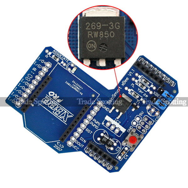 Sainsmartxbee wireless shield module expansion board for