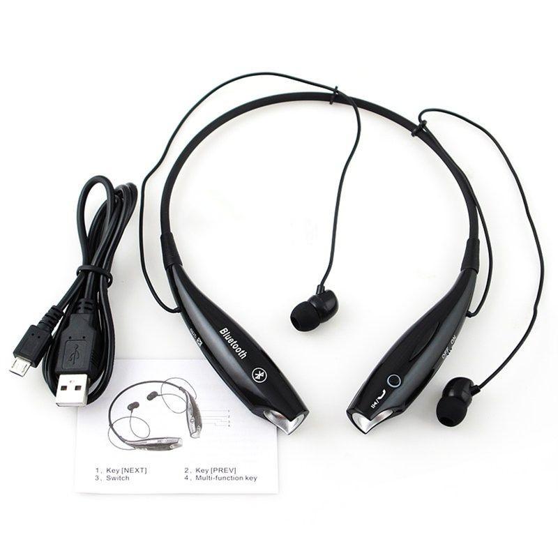 Bluetooth Sans Fils Casque Stéréo Headset Headphone Pour Samsung IPhone LG Noir