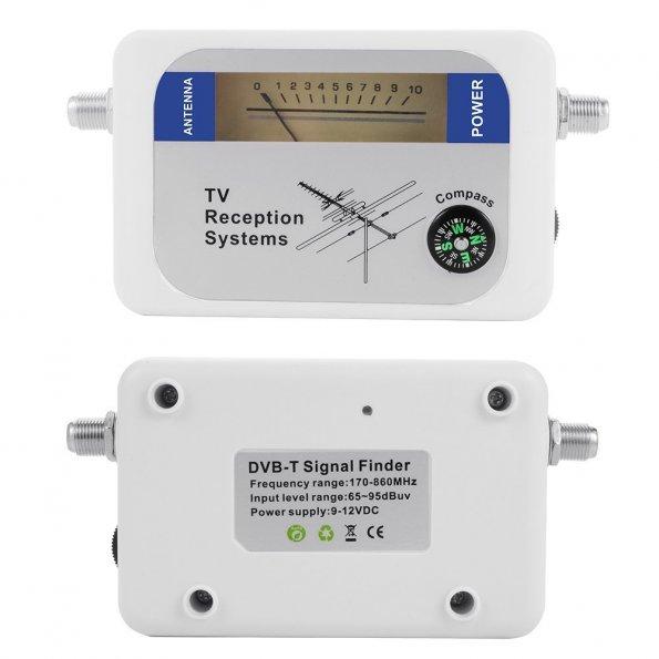 Tv Antenna Signal Strength Meter : Dvb t finder digital aerial terrestrial tv antenna signal