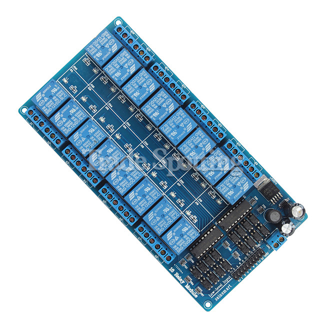 12v 16 Channel Relay Module Board With Optocoupler