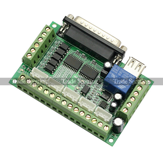 Mach3 5 axis cnc breakout interface board for stepper for Cnc stepper motor controller circuit
