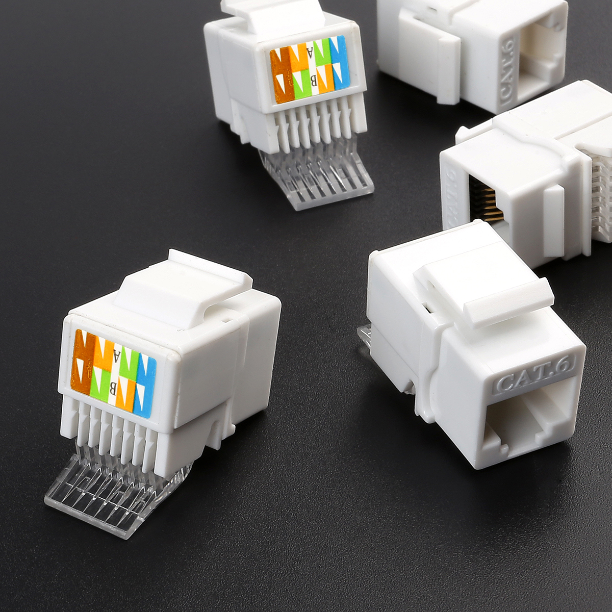 10x Cat6 Rj45 Connector Keystone Jack Network Lan Insert Snap In Mount Patch Cable Panel Networking Wiring Block 1u Ebay Please Check The Below Delivery Details Carefully Before You Purchase If Have Any Problem Contact Us Via Message