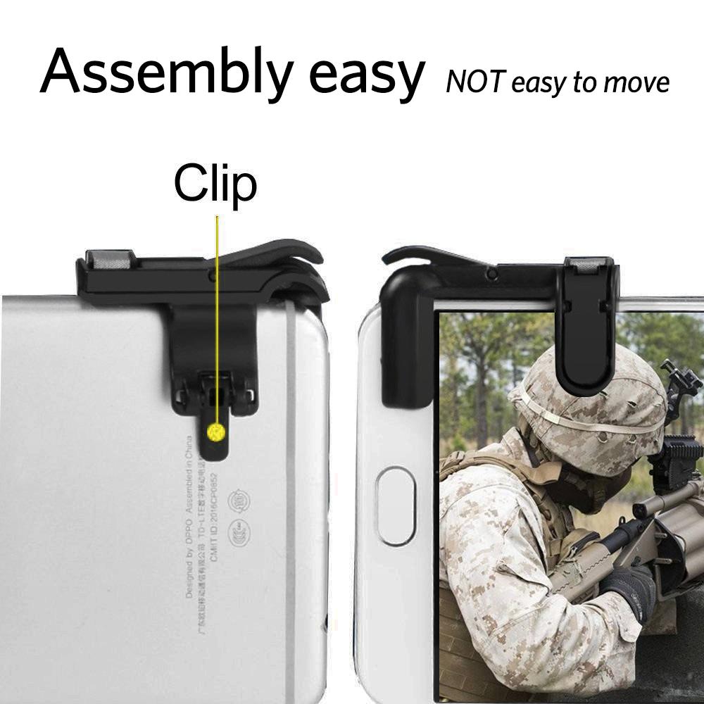 Detalles acerca de Disparador de juegos de teléfono móvil pubg fuego  controlador Tirador Botón Manija Para L1R1- mostrar título original