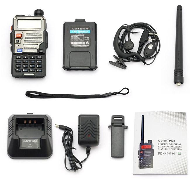 6x UV-5R Plus Scanner Polizei Feuerwehr Dual Band Digital Radio Hand-Funkgerät