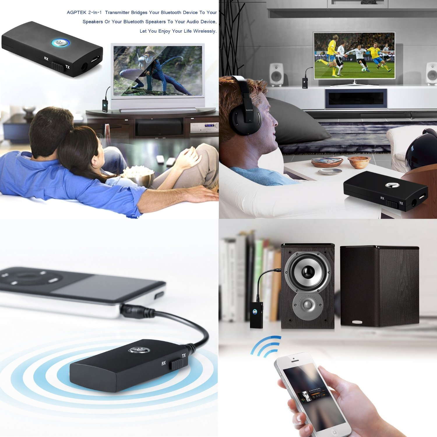 mpow streambot 2in1 bluetooth wireless stereo empf nger. Black Bedroom Furniture Sets. Home Design Ideas