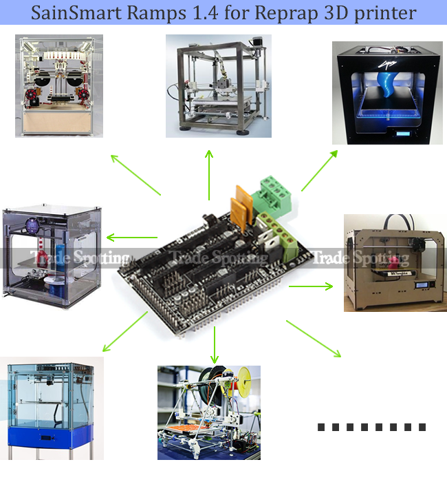 D printer kit for arduino reprap ramps mega