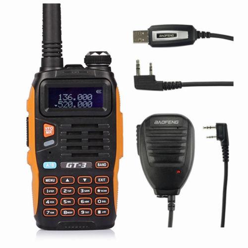 Baofeng GT-3 MarkII + Extra Battery VHF/UHF Dual Band 2M/70CM Ham Two-way Radio | eBay