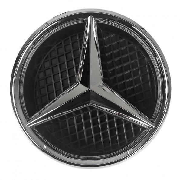 New white led light illuminated star emblem front grille for Mercedes benz badge