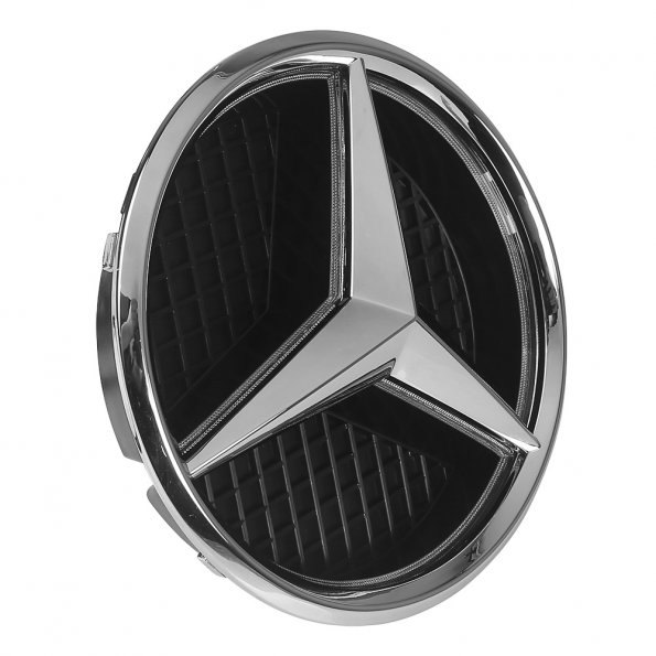 Bianca led illuminato a emblema anteriore della griglia for Mercedes benz symbol light